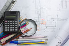 Construction drawing stock photos