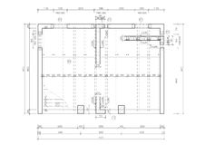Construction drawing of a floor slab royalty free stock photos