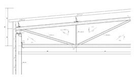 Construction drawing, steel truss Stock Image