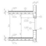 Construction drawing, window detail Stock Images