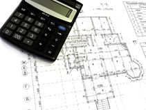 Construction drawings Stock Image