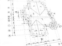 Construction drawings Stock Photo