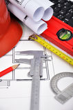 Construction drawings Royalty Free Stock Image