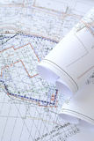 Construction drawings Stock Photography