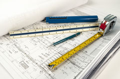 Construction drawings Royalty Free Stock Images