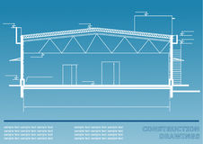 Construction drawings. Engineering illustration Royalty Free Stock Photography