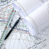 Construction drawings Stock Photos