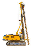 Construction drilling machine, isolated Royalty Free Stock Photos