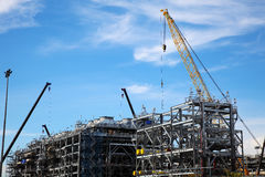 The Construction of Drilling Platform Royalty Free Stock Photography