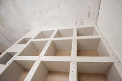 Construction of Drywall-Plasterboar d Interior Room Stock Photo
