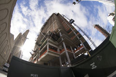 Construction du bâtiment à Brooklyn Photo libre de droits
