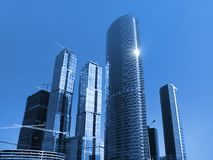 Construction du centre international d'affaires Images stock