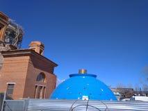Construction du dôme du temple image stock