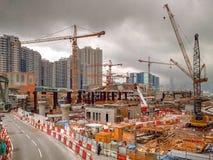 Construction du HK Photographie stock