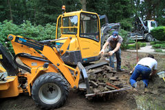 Construction du jardin Photo stock