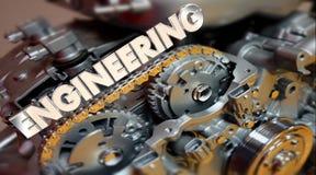 Construction du moteur d'automobile de voiture de moteur de Word illustration libre de droits