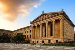 Construction du nord d'aile de Musée d'Art de Philadelphie Images libres de droits
