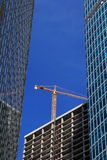 Construction du nouveau bâtiment image libre de droits