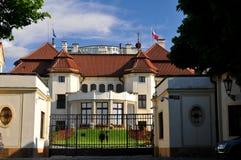 Construction du numéro 1 à Prague - château Image stock