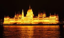 Construction du Parlement à Budapest Photo libre de droits