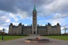 Construction du Parlement à Ottawa, Canada Image libre de droits