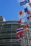 Construction du Parlement à Strasbourg, France, UE Photo libre de droits