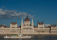 Construction du Parlement, Budapest Images stock