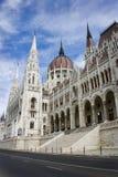 Construction du Parlement de la Hongrie Image stock