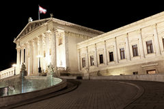 Construction du Parlement de Wien photos libres de droits