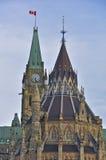 Construction du Parlement et bibliothèque, Ottawa, Canada image libre de droits