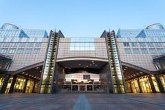 Construction du Parlement européen à Bruxelles Photos stock