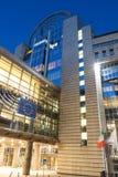 Construction du Parlement européen à Bruxelles Photographie stock libre de droits