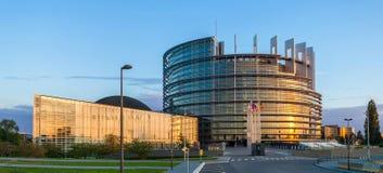 Construction du Parlement européen à Strasbourg Images stock