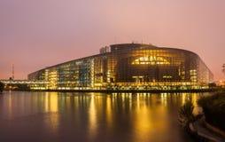 Construction du Parlement européen à Strasbourg images libres de droits
