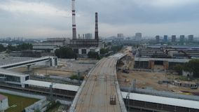 Construction du passage supérieur sur le territoire de l'ancien ZIL clips vidéos