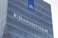 Construction du rijkswaterstaat à Rotterdam image libre de droits