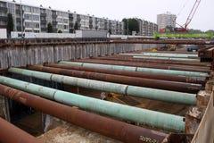 Construction du Roi Willem-Alexandertunnel Image stock
