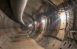 Construction du tunnel de souterrain photos stock
