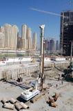 Construction in dubai. Buildings under construction, Dubai, UAE Stock Photo