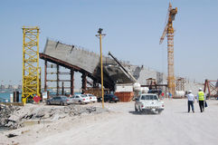 Construction in dubai. Buildings under construction, Dubai, UAE royalty free stock photo