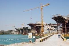 Construction in dubai. Buildings under construction, Dubai, UAE Royalty Free Stock Photos