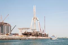 Construction of Dubai Eye, the world`s largest in Dubai, UAE Royalty Free Stock Images