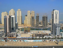 Construction of Dubai Marina Royalty Free Stock Images