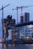 construction dusk στοκ εικόνες