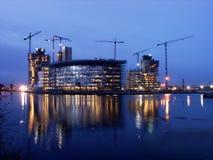 construction dusk work στοκ εικόνες