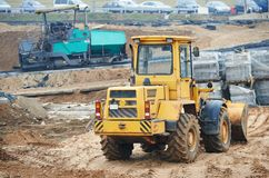 Construction earthmoving works with loader Royalty Free Stock Photography