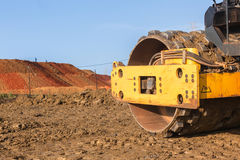 Construction Earthworks Compactor Machine Closeup Royalty Free Stock Images