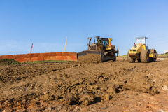 Construction Earthworks Mover Compactor Machines Royalty Free Stock Images