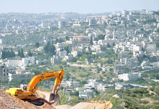 Construction in East Jerusalem Royalty Free Stock Image