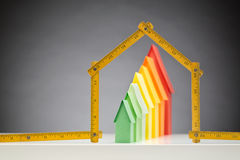 Construction of Eco Houses or Buildings stock image